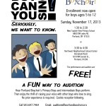 Boy Can You Sing? Flyer