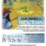 One Night in Frogtown - front