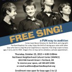 """Free Sing"" on October 22"