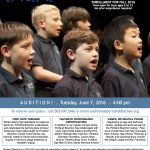 Portland Boychoir Audition Flyer 060716