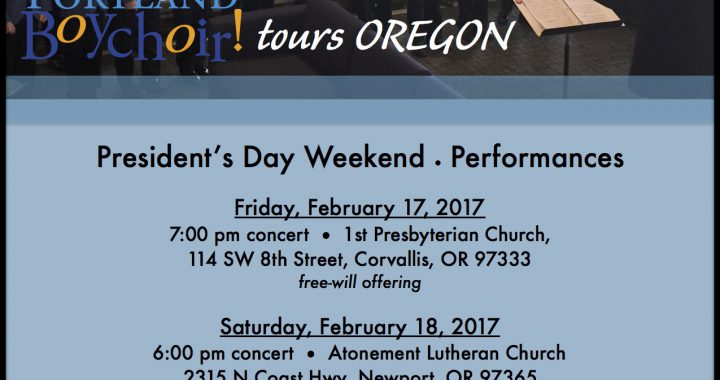 Portland Boychoir 2017 Tour Flyer