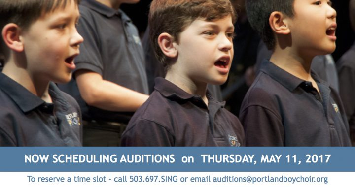Portland Boychoir Audition Flyer 051117